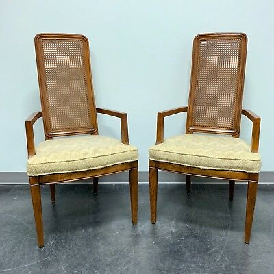 HENREDON Artefacts Campaign Style Dining Captain's Armchairs - Pair