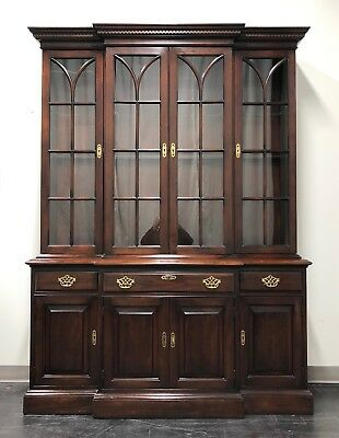 STATTON Trutype Americana Old Towne Cherry Breakfront China Cabinet