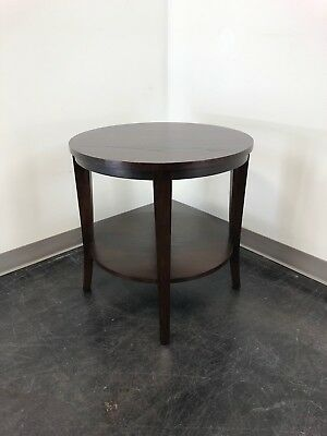 "ETHAN ALLEN ""Horizons"" Round End Side Accent Table 1"