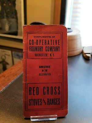 Vintage 1929 Red Cross Stoves & Ranges Memo Booklet Utica NY