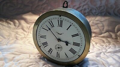 Antique Ship's clock ..8in American dial