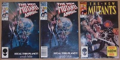 New Mutants Annual #1 direct & UPC, #29 1st Lila Cheney & Strong Guy (X-Factor)