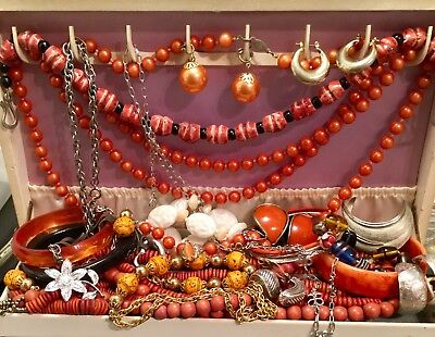 Vintage Now Estate Find Jewelry Lot Junk Drawer Unsearched Untested Alexis Kirk