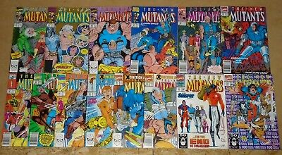 New Mutants #86, #87 gold, #88-97 & 99-100 high grade (#99 signed by Liefeld)