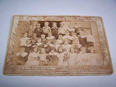 Cabinet Card 1906 School Class Roath Cardiff by Geo W Holden Wales