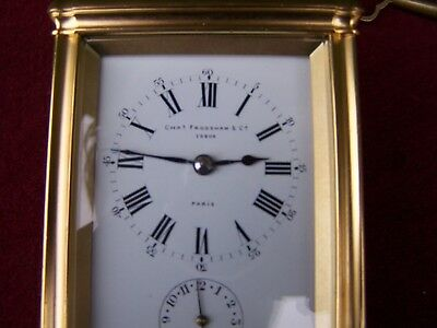 Charles Frodsham 19th Century repeat strike and alarm   Carriage Clock