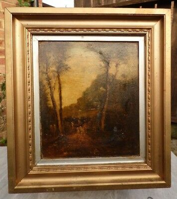 Landscape / Woodland Antique Oil Painting 19th Century