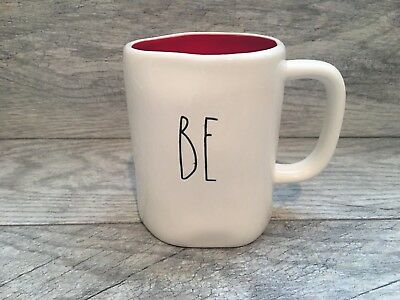 """Rae Dunn Valentines Day """" BE MINE """" Double Sided Mug. Red Inside New!!"""