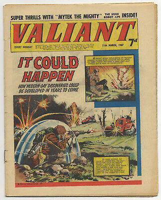 Valiant 11th Mar 1967 (mid-high grade copy) Steel Claw, Kelly's Eye, Mytek