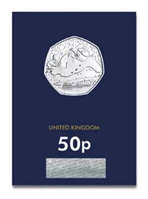 2018 The Snowman Fifty Pence 50p Coin Certified Brilliant Uncirculated BU UK