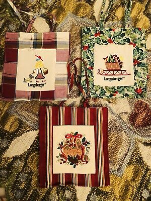 New Longaberger Lot Of Three Tote Lunch Bags
