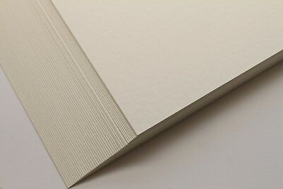 A4 QUALITY HAMMER EMBOSSED 250gsm OYSTER CARD. GREETING CARDS WEDDINGS