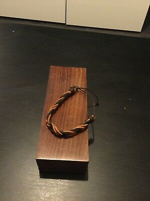 Mens Boys Handmade Leather Braided Surfer Wristband Bracelet Bangle Wrap Brown