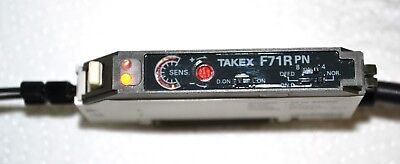 Takex FR71RPN Fiber Optic Sensor with Takex FR8EBC fiber tested