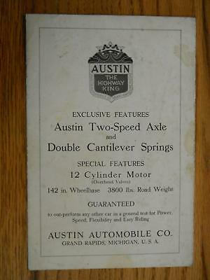 Austin Automobile Co Grand Rapids Michigan Folder Teens Or 20's