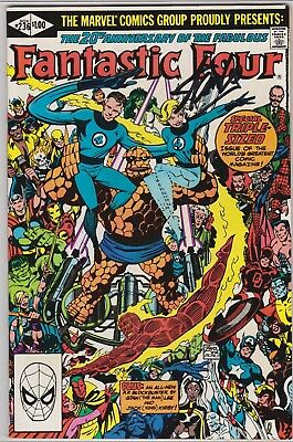 Fantastic Four 20Th Anniversary Signed Jack Kirby And Stan Lee, Nm-(9.2).,no Coa