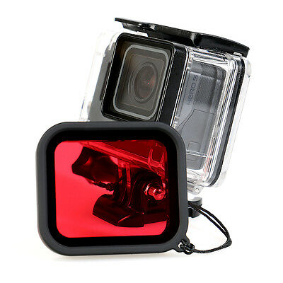 45M Waterproof Housing Case + Underwater Sea Diving Filter Lens For GoPro Hero 5