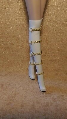 Fashion royalty white  boots,FR2.