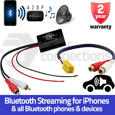 Fiat 500 Bluetooth A2DP Music Streaming Interface Adapter car radio AUX input