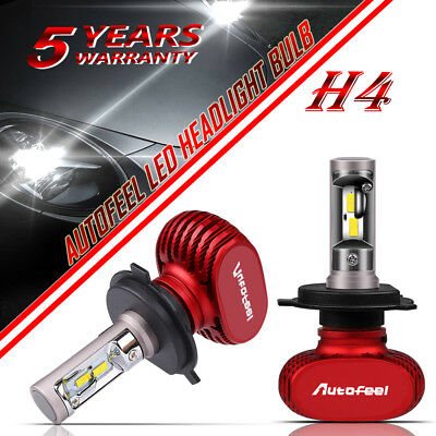 2x H4 9003 HB2 1700W 255000LM CREE LED Headlight Conversion Bulb Kit Hi/Lo 6000K