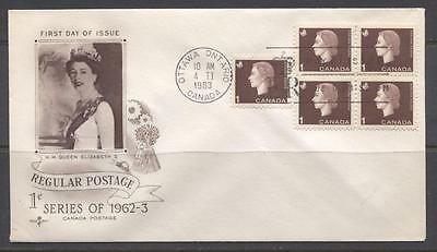 Canada #401 1963 1c Brown Cameo Issue  Rose Craft First Day Cover - XF-85