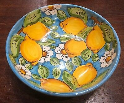 Vietri Pottery-9 inch bowl lemon.Made/Painted by hand in Italy