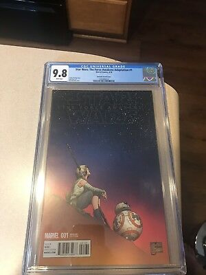 Star Wars The Force Awakens Adaptation #1 - Cgc 9.8 Nm/mt 1:100 Quesada Variant