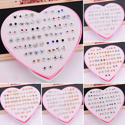 36 Pairs Mixed Flower Ear Stud Earrings For Kids Girls Women Flower Jewelry Set