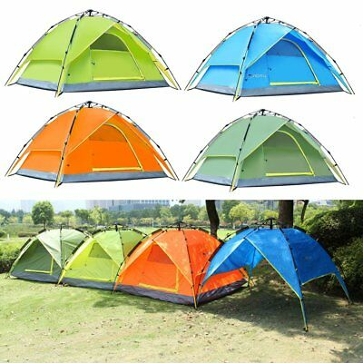 Waterproof 3-4 Person Double layer Automatic Instant Outdoor Camping Tent FK