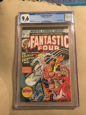 Fantastic Four #155 CGC 9.6 White Pages!  Silver Surfer Appears!
