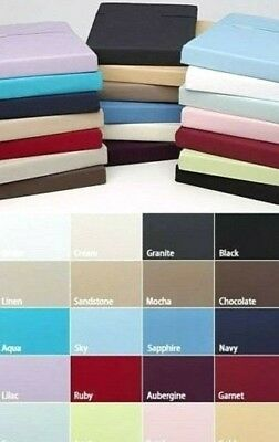 """100% EGYPTIAN COTTON EXTRA DEEP FITTED SHEET 16""""/40cm DROP IN ALL SIZES   200TC"""