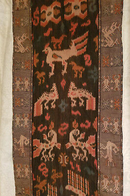 "Indonesian Ikat  hand loomed wall hanging 22 1/2"" x 80 1/2"""