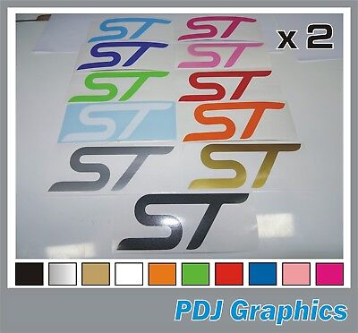 2 x ST - Vinyl Decals Stickers Fits Ford Focus ST Fiesta Escort