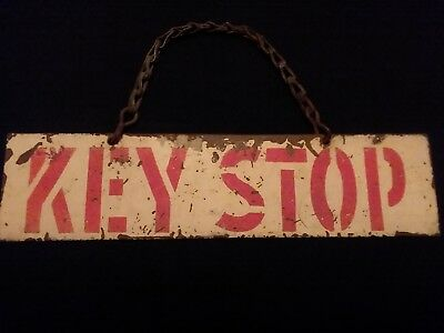 "Vintage Metal Sign - ""KEY STOP"""