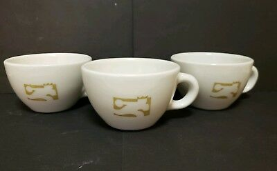 Vintage 1950's McNICOL China Bowling Alley  Diner/Restaurant Cups Set of 3