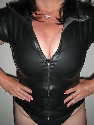 Latex Gummi Bluse Zip Shirt Top Neu Xxl