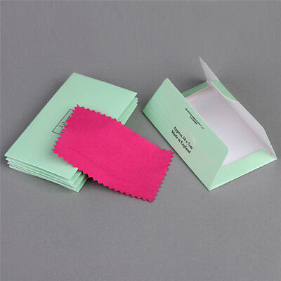 10PCS Jewelry Cleaning Cloth Silver Polishing Cloth Cleaner Anti-Tarnish Tool6ON