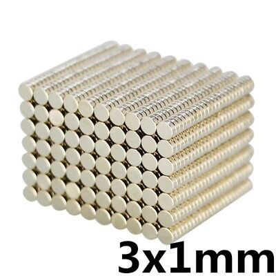 Lot of RARE EARTH MAGNETS for Office/ Hobby/ Model/ Wargaming/ Crafts: 3mm x 1mm