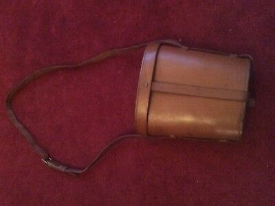 WW2 Canadian Army Brown Leather Case for 7x50 R.E.L. Binoculars