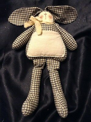 Tooth Fairy Bunny Pillow W/Pocket - EUC