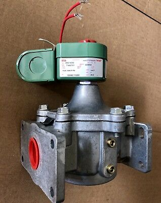 "1"" NPT 2-Way Fuel Gas Solenoid Valve 120VAC 1-5/8"" Orifice ASCO JB8214250"