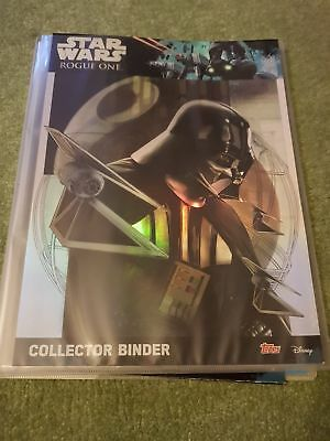 Topps STAR WARS ROGUE ONE Card Set nr/ Full Complete Binder Folder Panini Merlin