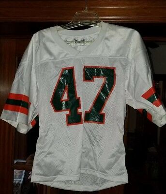 cb6f07152 MICHAEL IRVIN 47 MIAMI HURRICANES JERSEY medium white away vintage retro  nwot