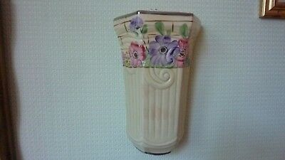 Vintage Porcelain wall pocket by Arthur wood and co