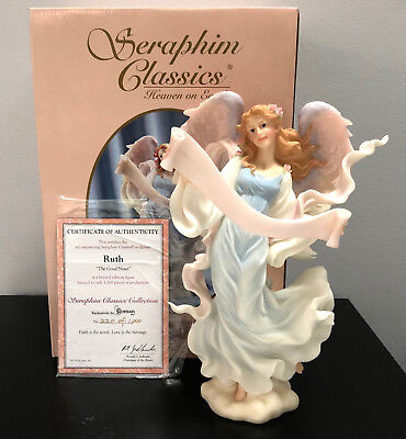 "Seraphim Classics Angel Ruth The Good News Large 12"" Limited Edition to 1000 MIB"