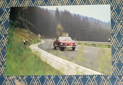 orig.VW POSTKARTE m Karmann Ghia Typ 34 RAZOREDGE Oval beetle postcard Käfer BUS