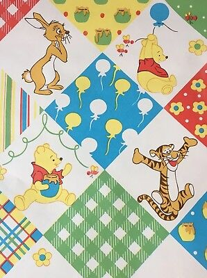 Vintage Disney Winnie The Pooh Wallpaper Double Roll 1970s