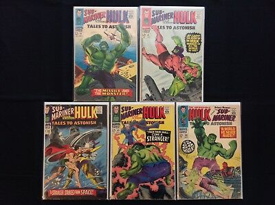 TALES TO ASTONISH Lot of 5 Marvel Comic Books - #85 87 88 89 95!