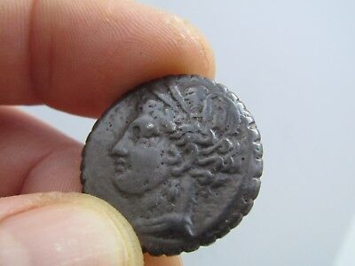 Ancient Greek bronze coin Zeugitana Carthage 264-201 BC