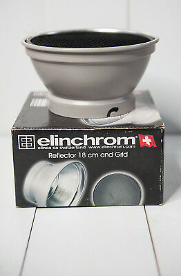 Elinchrom 18cm reflector & grid set in box